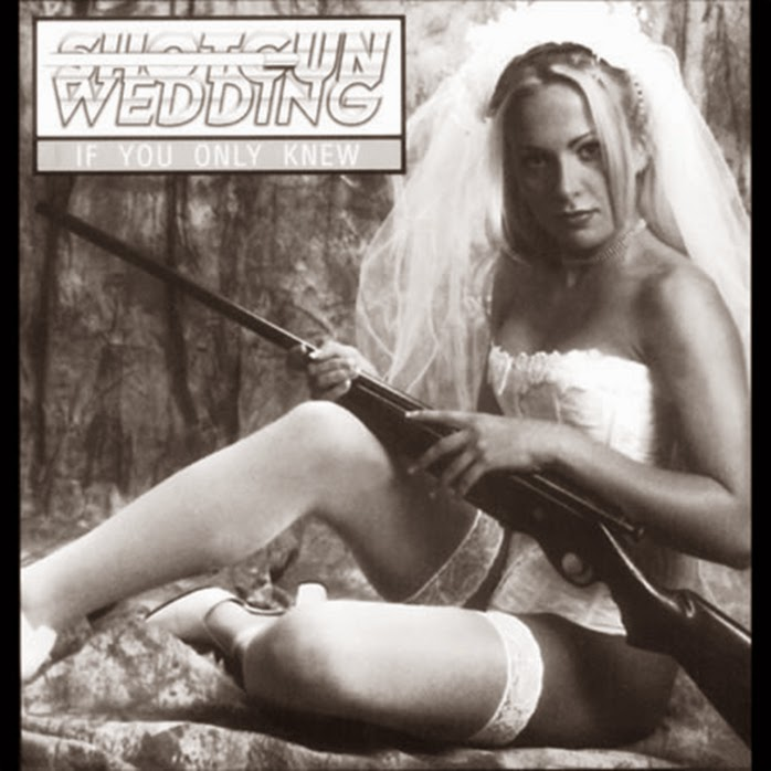 woman bridal lingerie shotgun