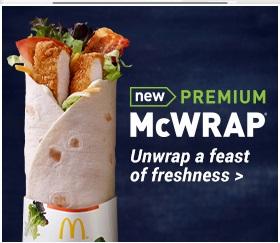free McDonalds McWrap