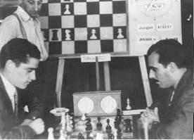 Partida Terrazas - Ros en el IV Torneo Internacional de Ajedrez de Sabadell 1945
