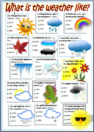 English Stuff Esl Weather Worksheet