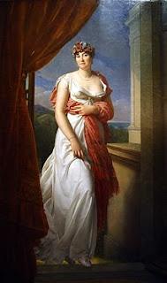 Teresa Cabarrús. Obra de  Francoise Gerard. Quizás el cuadro más famoso de Mme. Tallien. Tenía 31 años. Lacasamundo