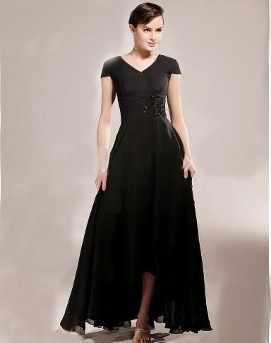 gaun pesta modern hitam