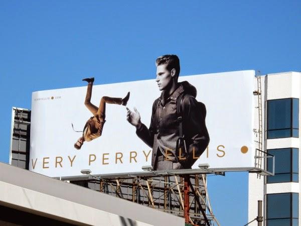Very Perry Ellis Spring 2015 backflip billboard