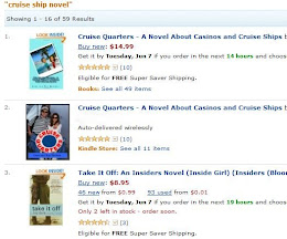 Cruise Quarters ranked #1 and #2 Cruise Ship Novel on Amazon