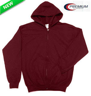 Youth Burgundy Zip-up hoodie on sale FREE SHIPPING