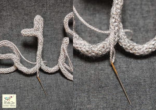 MelleJen tutoriel mot en tricotin : consolider les lettres