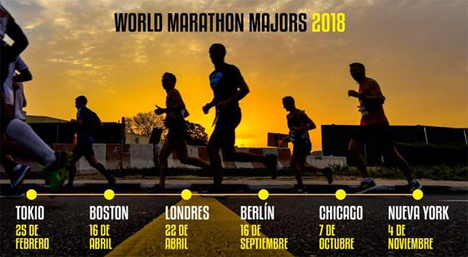 CALENDARIO WORLD MARATHON MAJORS 2018