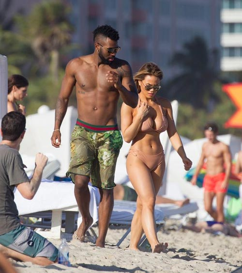 Jason Durelo Takes Out 50 Cent's Hot Baby Mama Daphne Joy To The Beach On New Year (Photos)
