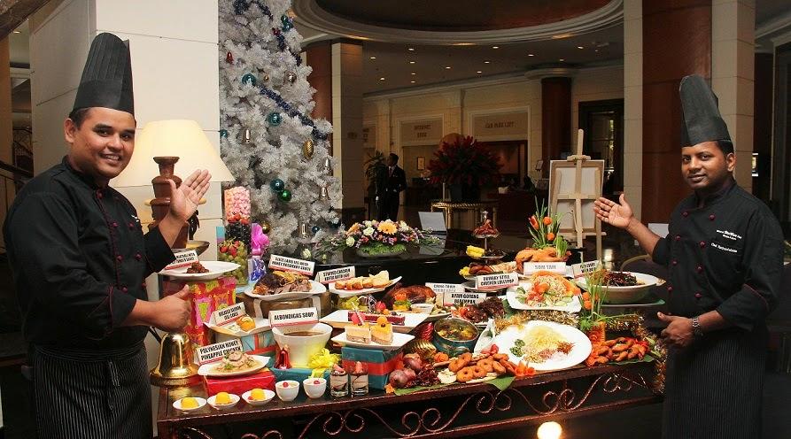 Chefs introducing their buffet spread