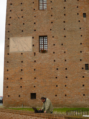 Sundials on the Castello degli Acaia