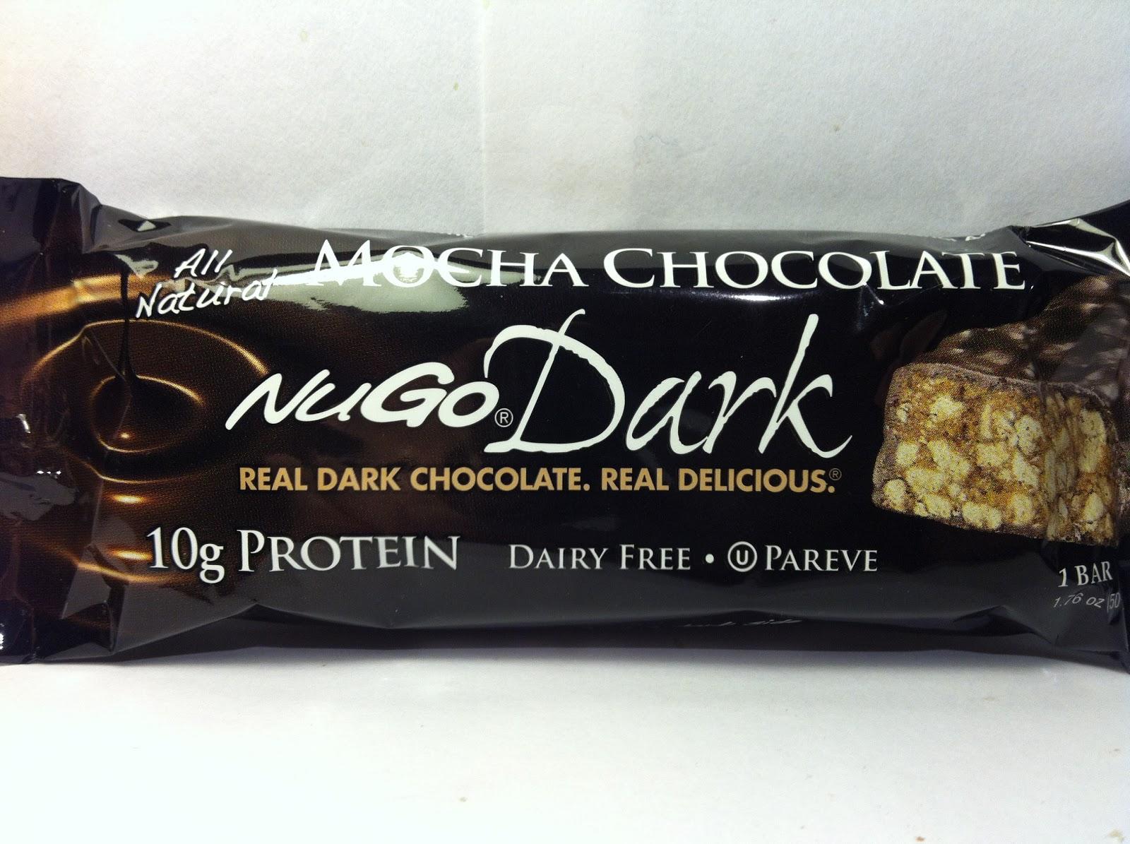 Crazy Food Dude: Review: NuGo Dark Mocha Chocolate Bar