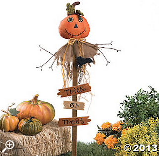 trick or treat pumpkin yard stake