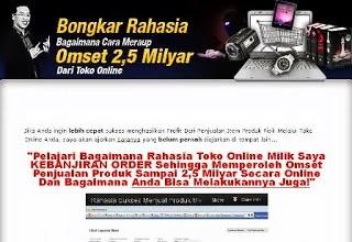 Cara Membuat Toko Online Beromzet Rp.2.5  Miliar !