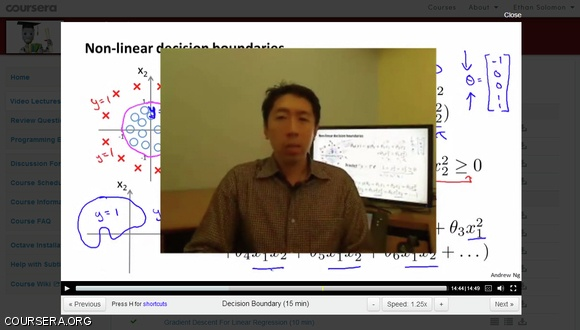 coursera andrew ng machine learning