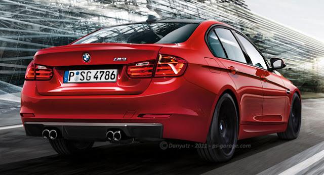 en los diseños de BMW E90 saliente y el recién revelado F30