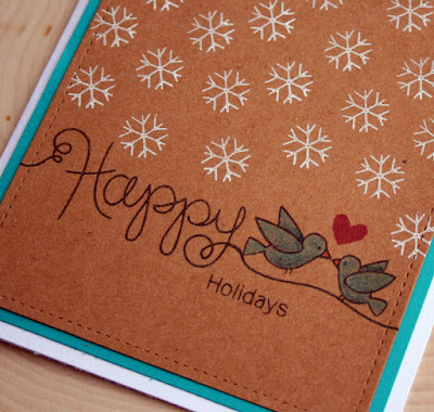 Happy Holiday Card by Jess Crafts using Newton's Nook Designs Simply Seasonal and Holiday Smooches