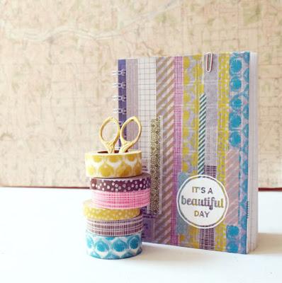 washi tape notebook