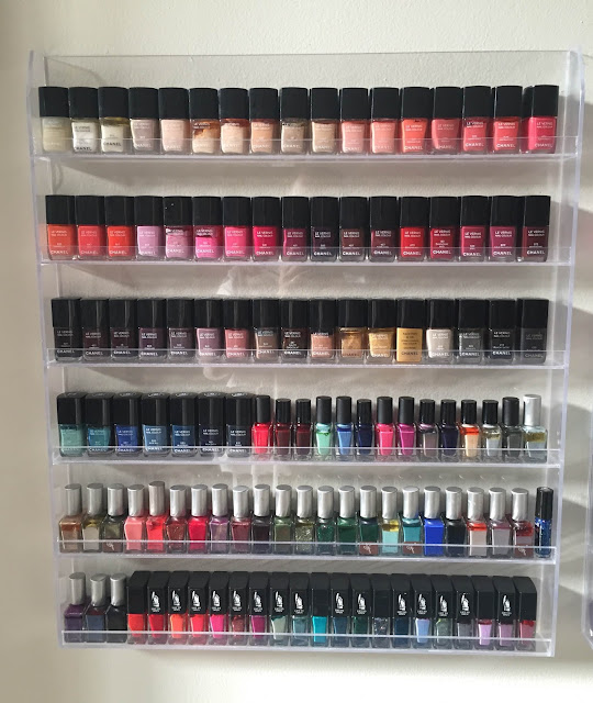 nail polish storage, nail polish stash, The Beauty of Life nail polish storage, Chanel, RGB Cosmetics, Rescue Beauty Lounge, butter LONDON, nail polish, nail lacquer, nail varnish, #ManiMonday, manicure, nail polish racks