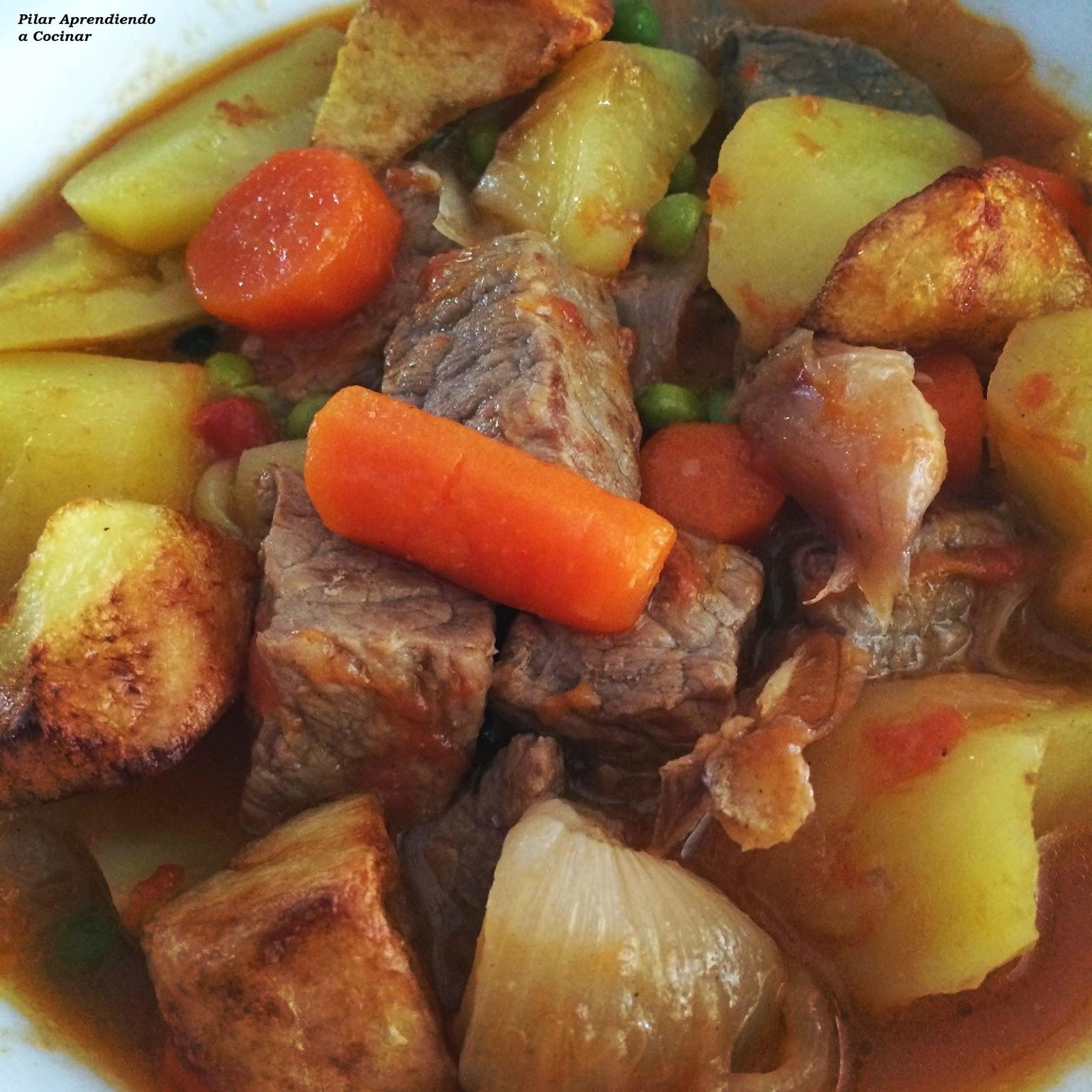 Aprendiendo a cocinar estofado de ternera con patatas for Cocinar repollo con patatas