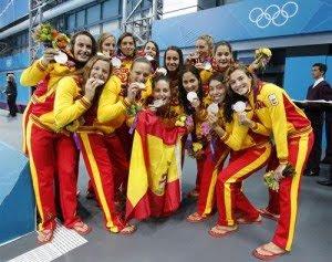 medalla de plata Selección española de Waterpolo femenino Juegos Olímpicos Londres 2012
