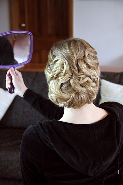 gorgeous wedding hair style -  Perle Jewellery & Makeup