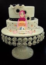 stacked cake fondant