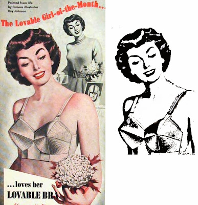 REtro bra ad turned into transfer