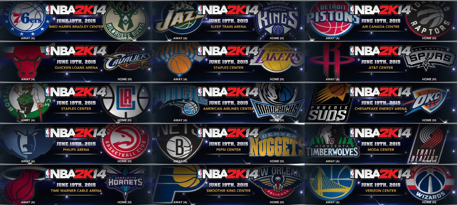 NBA 2K14 2015-16 NBA Logos Patch - Primary Logos
