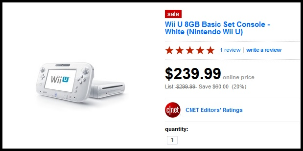 Target is currently selling the Wii U Basic Set for $239.99