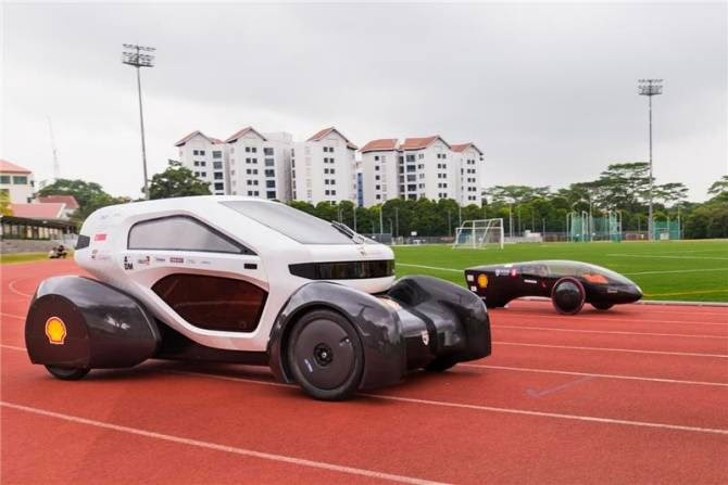 gambar Mobil Tenaga Surya Buatan Singapura Terbaru