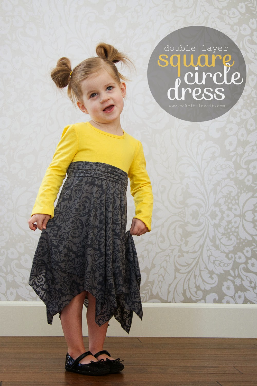 Square and Circle dress sewing