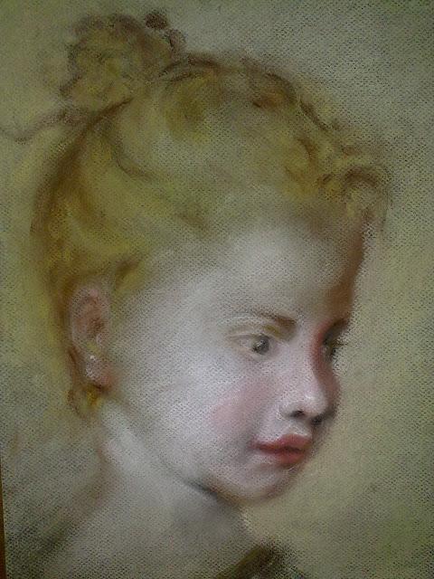 niña a pastel, retrato, pastel A Coruña