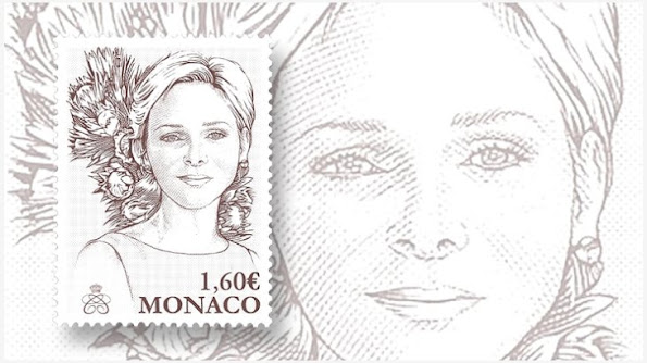 Monaco's Office des Timbres will issue an engraved stamp featuring Princess Charlene