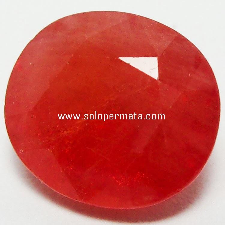 Batu Permata Orange Sapphire - 24A01