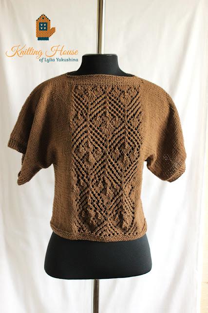пончо, вязаное пончо, пуловер, вязаный пуловер, пуловер спицами, пуловер вязаный спицами, разлетайка вязаная