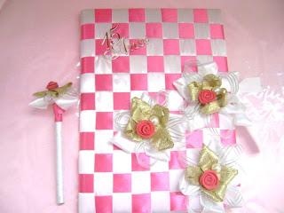 Caderno Decorado   Fita  Casamento E Maternidade  Para 15 Anos E