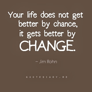 A quote by Jim Rohn that says your life does not get better by chance, it gets better by change.