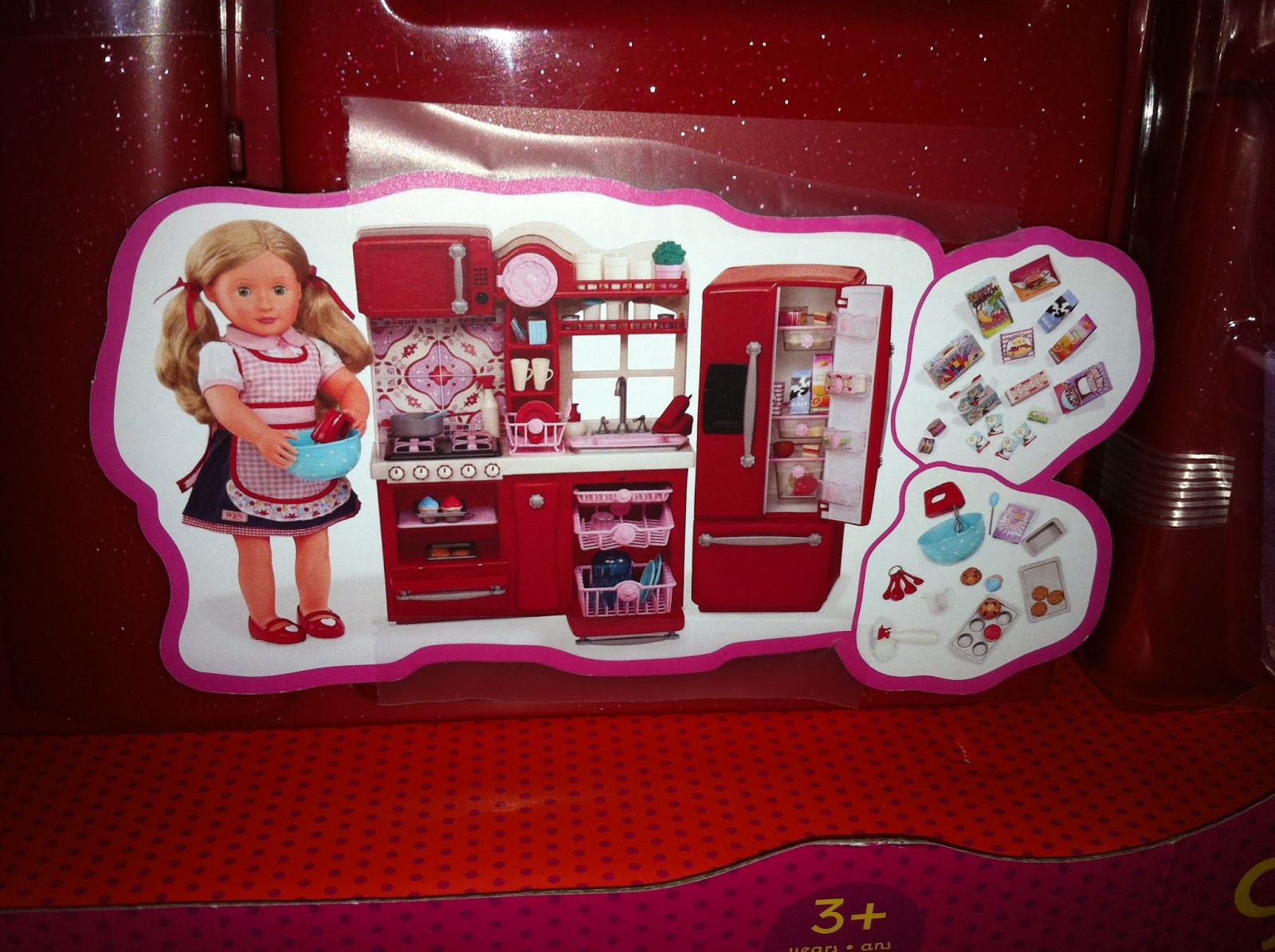 A little doll will do it.....: Our Generation kitchen s