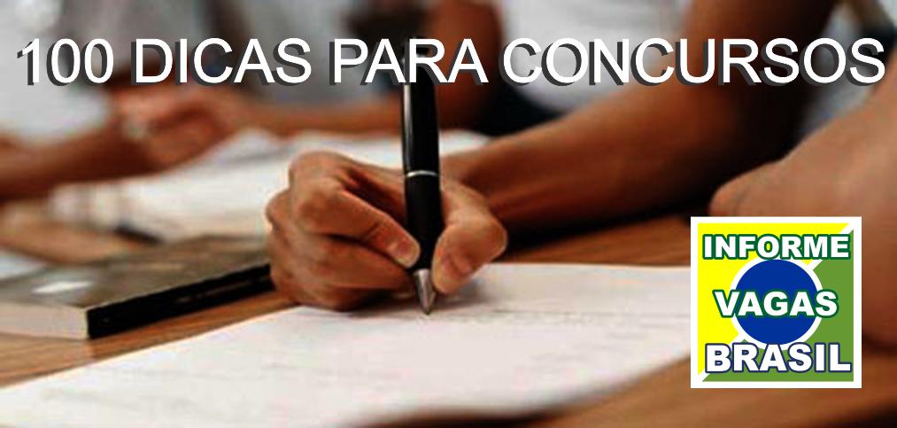 100 DICAS PARA CONCURSOS