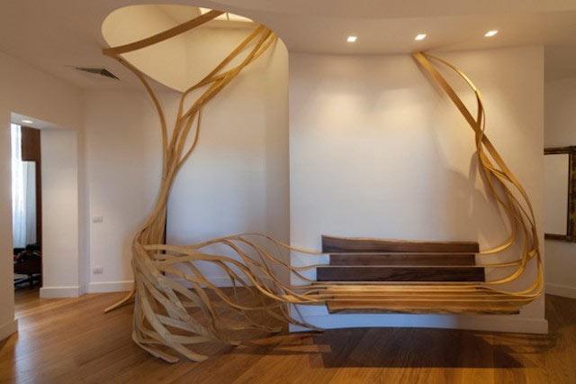 El banco Arboreus, un mueble inspirado en lo orgánico por Rota-Lab