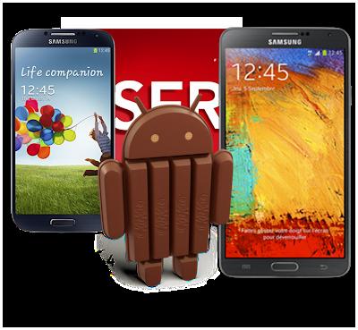 Samsung, Samsung Galaxy S4, Galaxy S4, Samsung S4, Samsung Galaxy Note 3, GALAXY Note 3, Note 3, Samsung Note 3, Android 4.4, Android 4.4 KitKat, Android KitKat