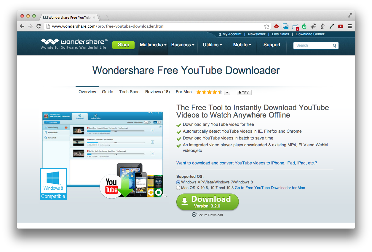 mac os x windows wondershare free youtube. Black Bedroom Furniture Sets. Home Design Ideas