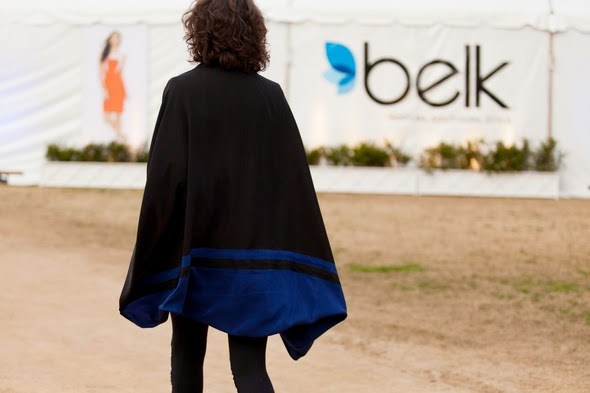 walking away, womens fashion curly hair capes blue and black charleston street style