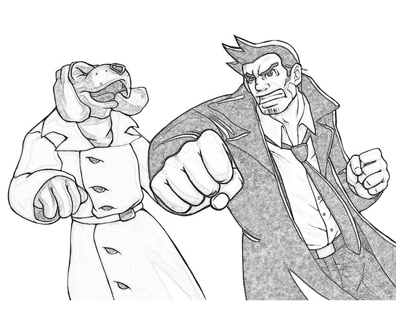 ace-attorney-investigations-detective-dick-gumshoe-attack-coloring-pages
