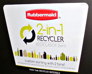 Rubbermaid, In Home Recycling, Green, Storage Containers