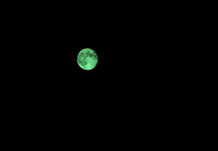 Y la luna!