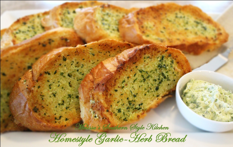 Double-Garlic Herb Garlic Bread Recipe — Dishmaps
