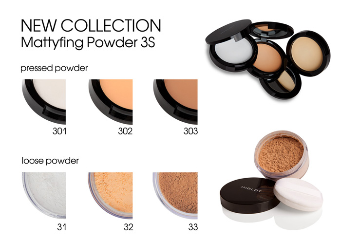 INGLOT mattiyfing loose powders