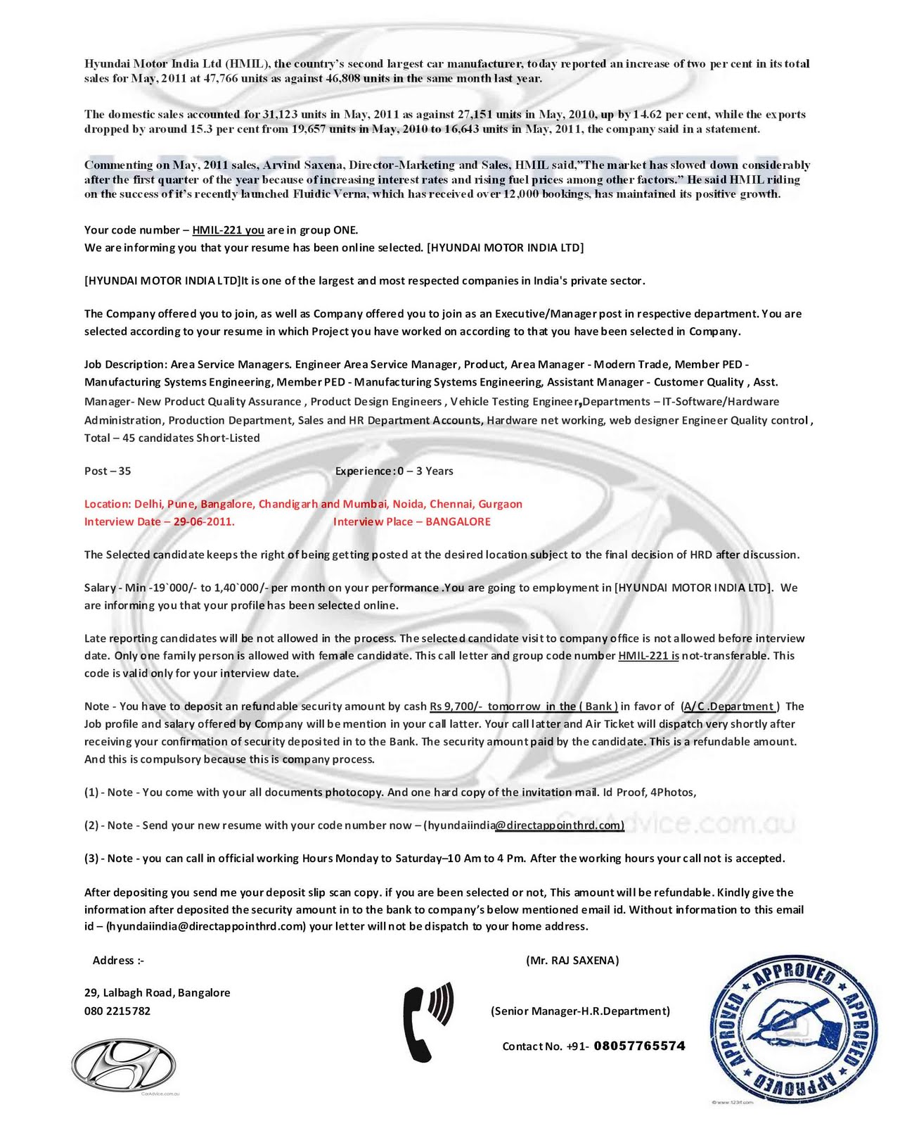 application letter for security job platinum class limousine
