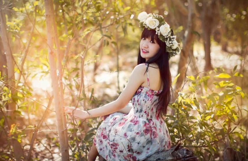 Ảnh gái đẹp HD Bé Moon THPT Văn Hiến 4